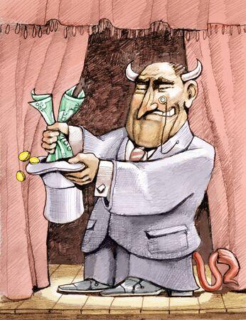 financier: a financier pulls money out of the hat like a magician