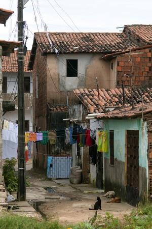 penury: Poor neighborhood in the suburbs of Fortaleza, Brazil