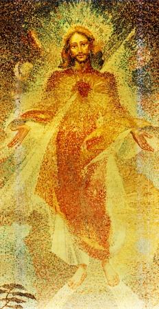 Jezus: Witraż z Najświętszego Serca Jezusowego