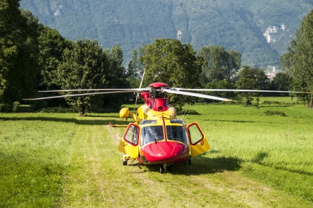 Alpine emergency helicopter rescue, Italy