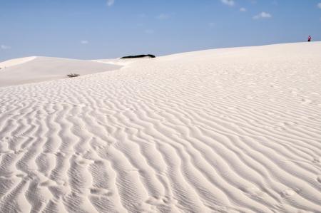 White sand dunes of the Lencois Maranheses National Park in Brazil. Stock Photo - 14402467