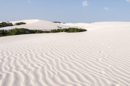 atilde: White sand dunes of the Lencois Maranheses National Park in Brazil. C