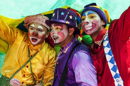 marginalized: Young clowns of the road during the Cry of the Poor Rally. Fortaleza, BrasilNational public act of protest and contestation. Promoted by various institutions and ong, is celebrated every year on September 7, the Independence day of Brazil Editorial