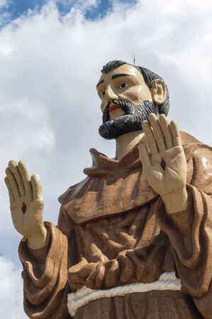 franciscan: Monument to Saint Francis in Caninde, Ceara State, Brazil. The statue is over 30 meters.