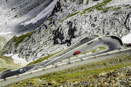 impervious: Stelvio pass, the highest and most impervious of the Alps