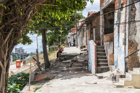 penury: Community of the city center that will be expropriated and removed because of the World Cup 2014, Fortaleza, Brazil Editorial