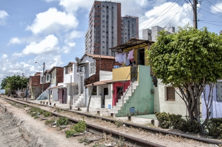 penury: Community of the city center that will be expropriated and removed because of the World Cup 2014, Fortaleza, Brazil Stock Photo