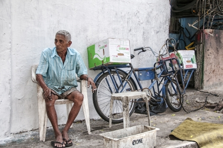 penury: Elderly man  People of community of the city center that will be expropriated and removed because of the World Cup 2014, Fortaleza, Brazil Editorial