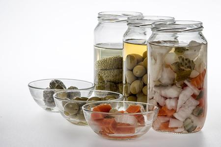 pickles: Tarros de salmueras Foto de archivo