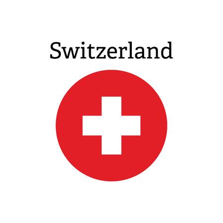 Icône de la Croix Rouge. Icône de vecteur de drapeau suisse Banque d'images - 79561685