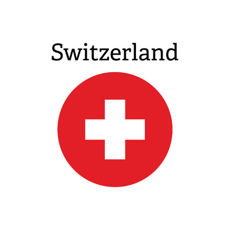 Red cross icon. Swiss flag vector icon 向量圖像