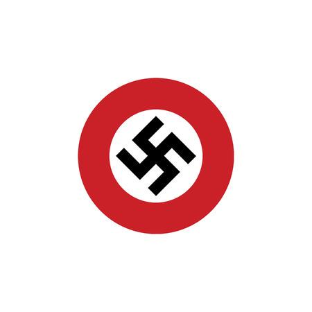 swastika, flyfot round sign symbol flag icon Illustration