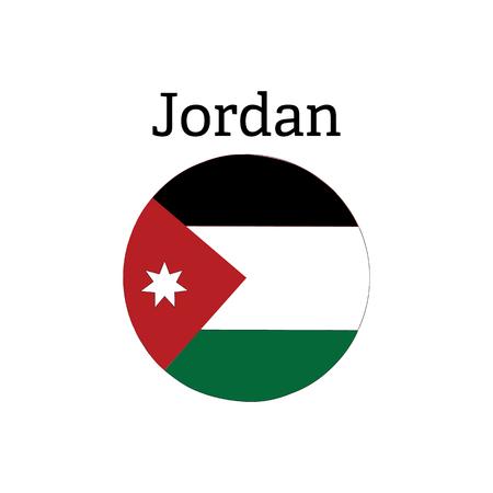 Jordan flag round button sign symbol icon