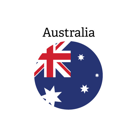 oceania: Vector flag button series Australia flag icon Illustration
