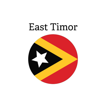 timor: East Timor glossy button with flag icon