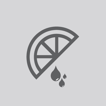 lemon vector icon isolated on grey background