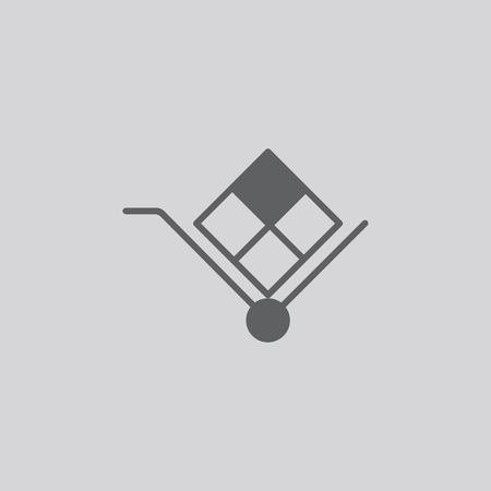 Icône de vecteur de signe de charrette isolé sur fond gris Banque d'images - 81764186