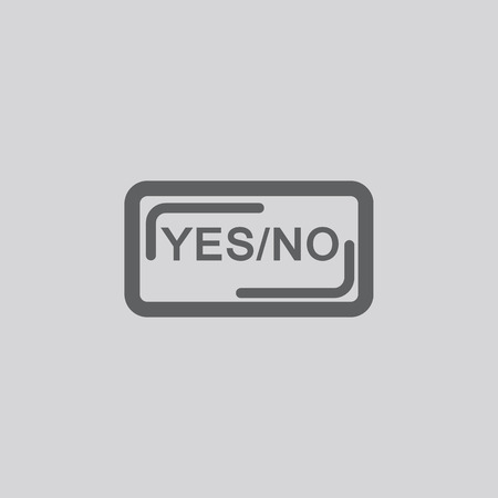 false: Yes and No icon vector sign symbol pictogram