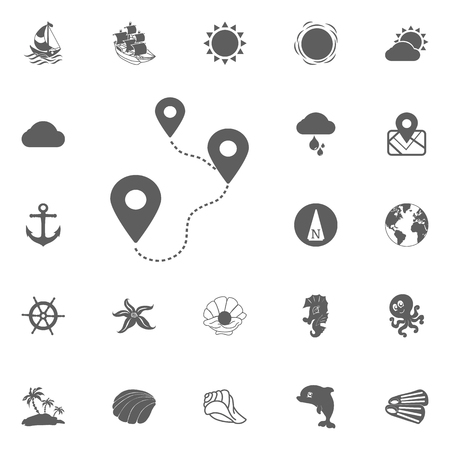Location on the route icon vector illustration isolated on white background