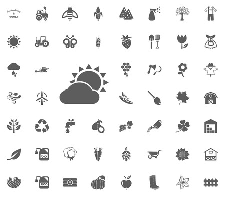 Cloudy sun icon.