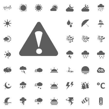 Caution, warning icon. Weather vector icons set Çizim