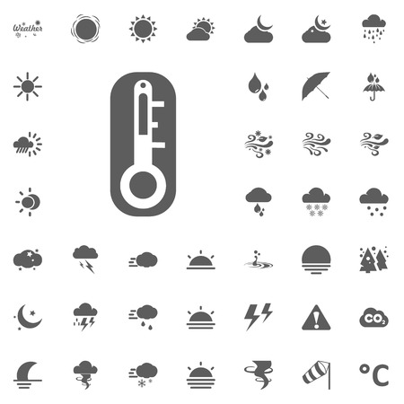 Temperature vector icon. Weather vector icons set