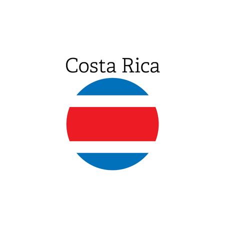 Costa Rica flag icon round vector illustration. 向量圖像