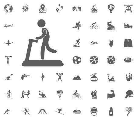Treadmill icon sport illustration vector set icons.