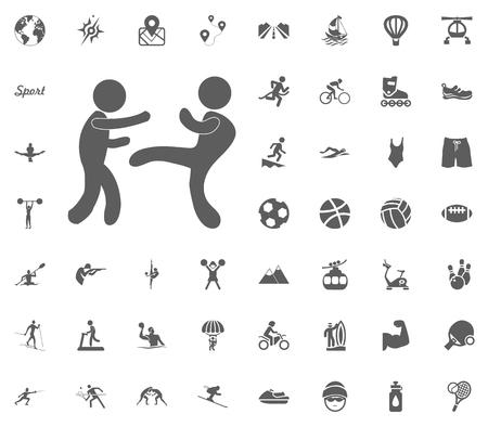 Karate icon sport illustration vector set icons.