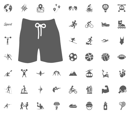 Men swimming suit icon. Sport illustration vector set icons. Set of 48 sport icons. Иллюстрация