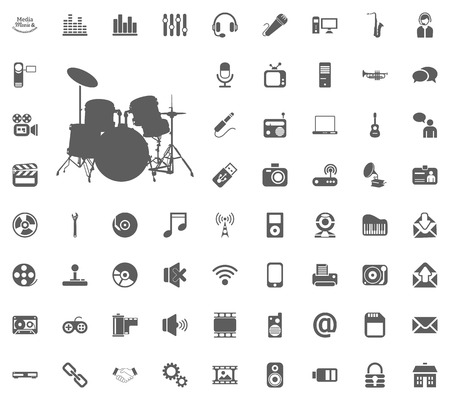 Music band icon. Media, Music and Communication vector illustration icon set. Set of universal icons. Set of 64 icons.