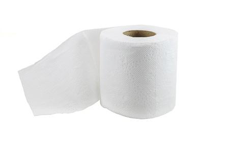 クリッピング パスと白い背景で隔離のトイレット ペーパー