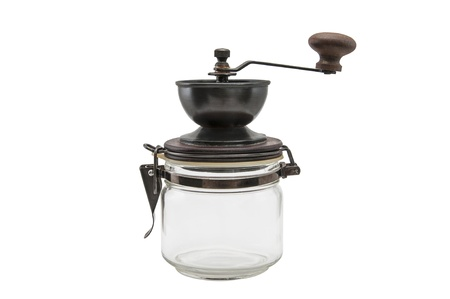 młynek do kawy: Coffee grinder isolated on white background