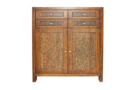 arredamento classico: Armadietto di legno isolato su sfondo bianco Archivio Fotografico