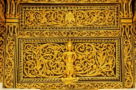 gable: Gable detail of temple, Northern Thailand Stock Photo