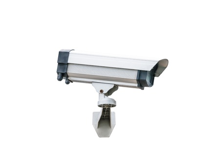 Security Camera isolated on white background  photo