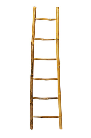 Gentil Bamboo Stairs Isolated On White Background Stock Photo, Picture And Royalty  Free Image. Image 22388928.