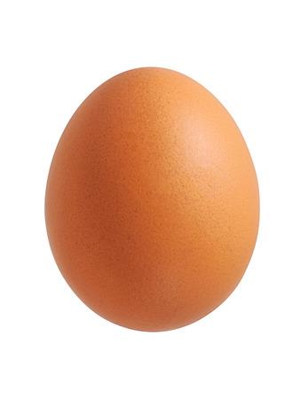 鶏の卵の白い背景で隔離のクローズ アップ