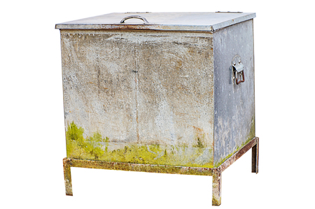 ice chest: Vintage ice chest isolated on white background with clipping path