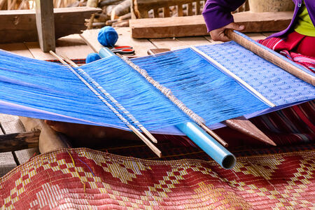 Fabric weaving tools is one of traditional manufacturing photo