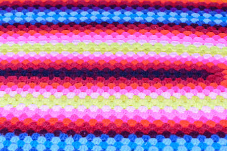 hand woven: Colorful hand woven cotton fabric Stock Photo