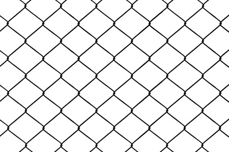 trespass: Chainlink fence seamless on a White background   Stock Photo
