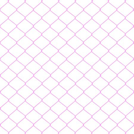 chainlink fence: Pink chainlink fence seamless on a White background   Stock Photo