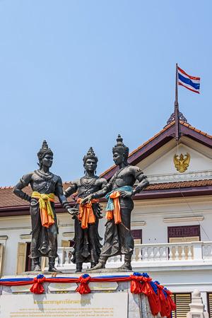 three kings: Three Kings Monument,Chiang Mai, Thailand.