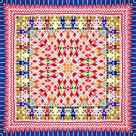arte abstracto: Modelo del fondo hecho de patrón sarong tailandés tradicional.