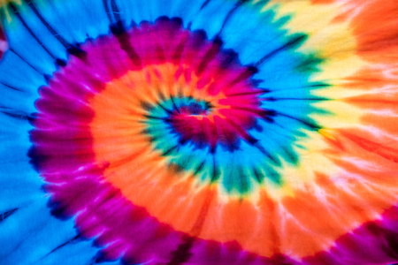 tie dye: Colorful tie dye fabric for background. Stock Photo