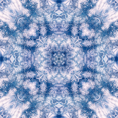 Abstract background pattern made from tie dye fabric,  kaleidoscope  pattern, endless pattern for wallpaper.