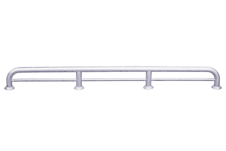 Stainless steel low fence isolated on white , with clipping path. 写真素材
