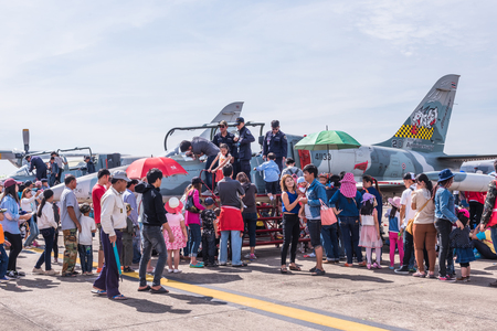 children's show: CHIANG MAI, THAILAND - JANUARY 09: Military show at Wing41 Airbase on Thai Childrens Day on January 09, 2016 in Chiang mai, Thailand.