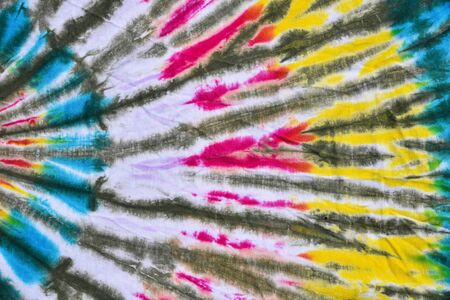 to dye: Colorful tie dye fabric for background. Stock Photo